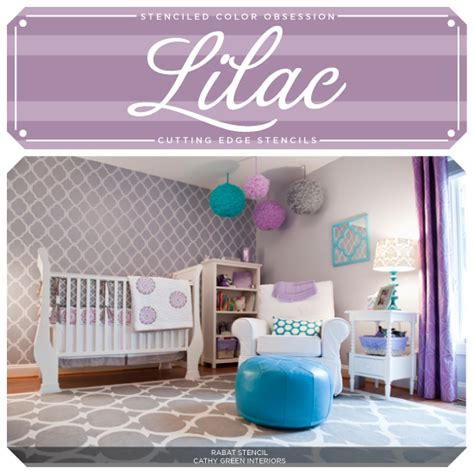 stenciled color obsession lilac hometalk