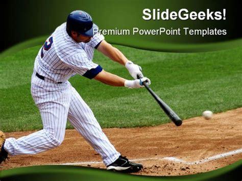 Baseball Sports Powerpoint Template 0610 Powerpoint Templates Baseball