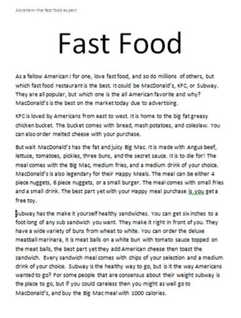 Descriptive Essay Food by Descriptive Food Essay