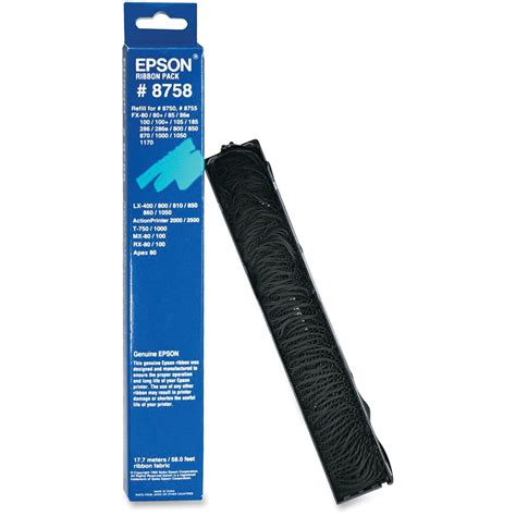 Ribbon Pack Murah New Ink epson 8758 ribbon replacement pack 8758 b h photo