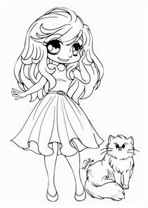 cute chibi coloring pictures