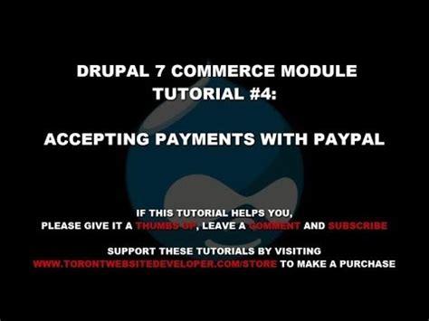 drupal commerce module tutorial setting commerce