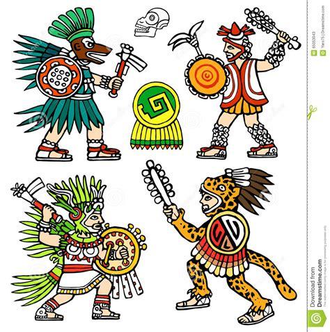 guerrieri aztechi illustrazione di stock immagine di