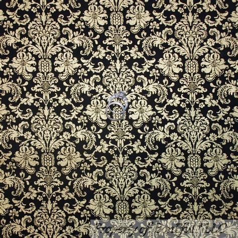 damask pattern history boneful fabric fq cotton quilt black gold metallic flower