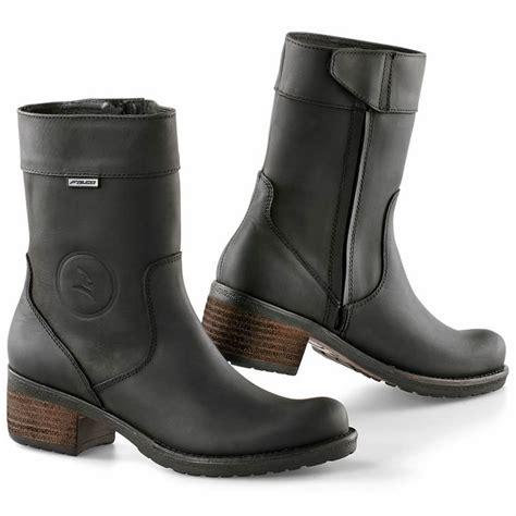heeled motorcycle boots falco ayda short ladies waterproof motorcycle motorbike