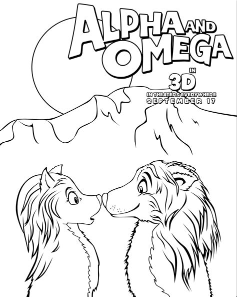 alpha and omega coloring picture alpha and omega coloring