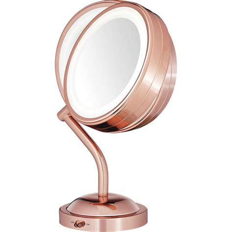 conair reflections lighted mirror conair be4srg reflections led lighted mirror rose gold