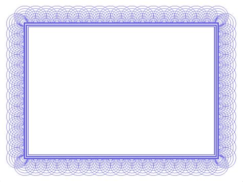 Blue Certificate Border Backgrounds For Powerpoint Border And Frame Ppt Templates Powerpoint Border Templates