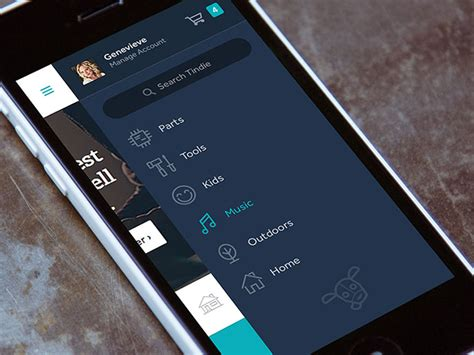 Menu Design Mobile App | 30 brilliant mobile navigation menu design concepts web
