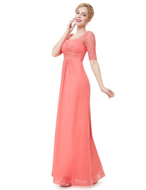 Jy779163 Size S M L Formal Dress Side Splited Polos Import lace sleeve formal bridesmaid dresses evening gown 10 12 08038 ebay
