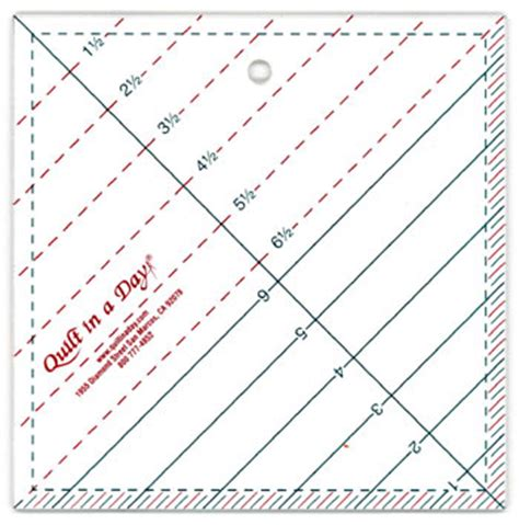 Quilt In A Day Ruler by 6 1 2 Quot Triangle Square Up Ruler Quilt In A Day 2010qd
