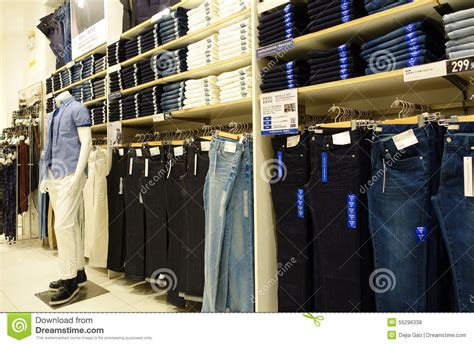 clothing store clothes shop editorial stock photo
