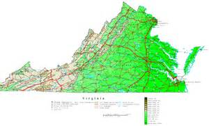 Map Virginia by Virginia Contour Map