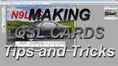 Making Qsl Cards Tips And Tricks Youtube Qsl Card Template Photoshop