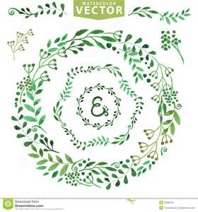 Wreath Template by Watercolor Wreath Set Vintage Floral Laurels Stock Vector