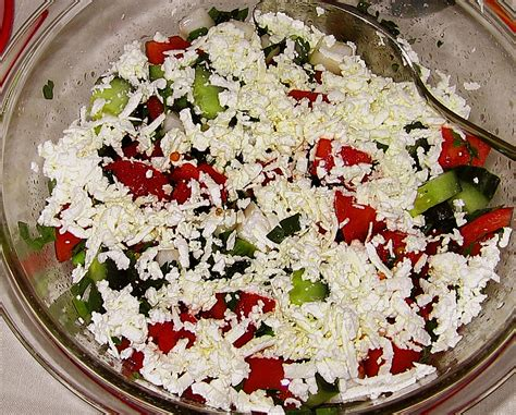 bulgarischer kuchen schopska salat aus