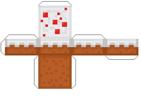 Food Papercraft Template - minecraft papercraft cake minecraft cakes