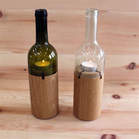 le flaschen kerzenst 228 nder aus flaschen zirbenholz produkte