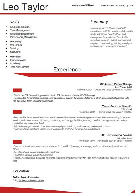 New Resume Template by New Resume Format Learnhowtoloseweight Net