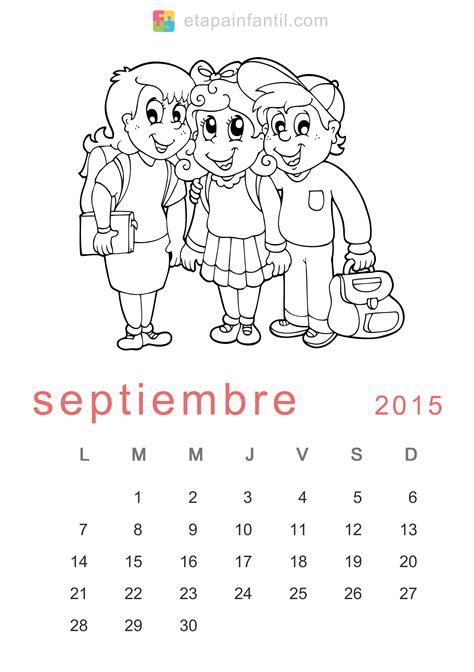 Calendario Octubre 2015 Para Imprimir Calendario De 2015 Para Imprimir Y Colorear Etapa Infantil