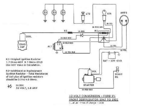 ford naa 6 volt wiring diagram repair wiring scheme
