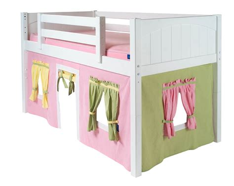 2 story playhouse loft bed w slide pink green yellow on