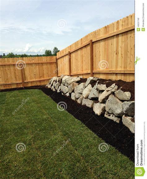Cottage Tiny House corner fence stock photo image 49531749