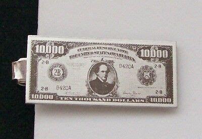Miniature Vintage $10,000 Dollar Bill Money Tie Clip Clasp ... $10000 Bill For Sale