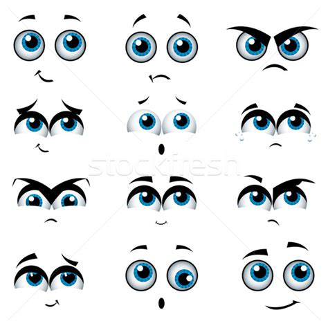 expression cartoons illustrations vector stock images cartoon faces with various expressions vector illustration