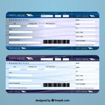 Ticket Vectors Photos And Psd Files Free Download Airline Ticket Gift Template