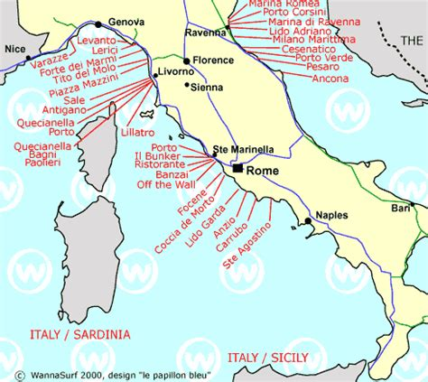 map of mainland europe mainland surfing in mainland italy wannasurf surf