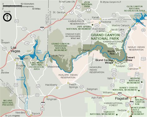 grand map us grand national park grand az united