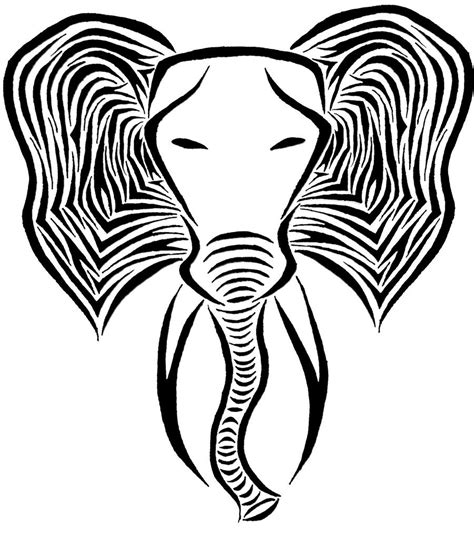 tribal pattern elephant tribal pattern elephant drawing www imgkid com the