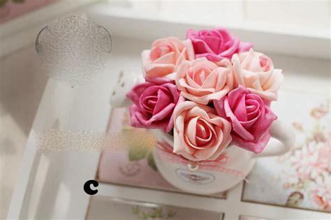 Vas Bunga Kaleng Shabby jual bunga mawar pot keramik flower vas shabby chic vintage 12x12cm shabina