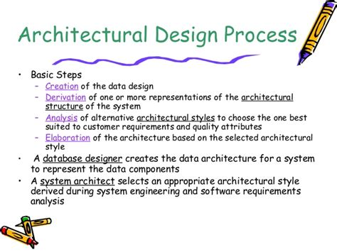 design definition in software engineering architecture design in software engineering