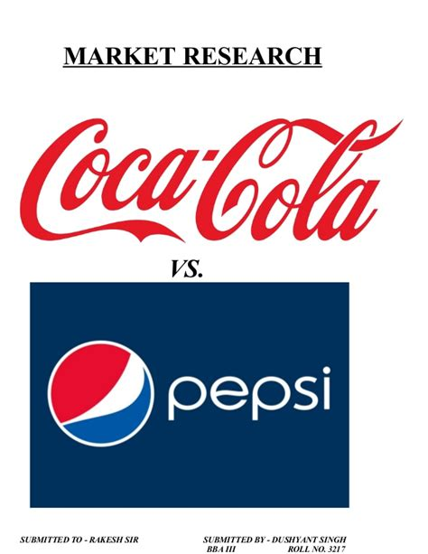 introduction of pepsi slideshare market research on coca cola vs pepsi