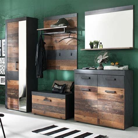 saige hallway furniture set   wood  graphite grey