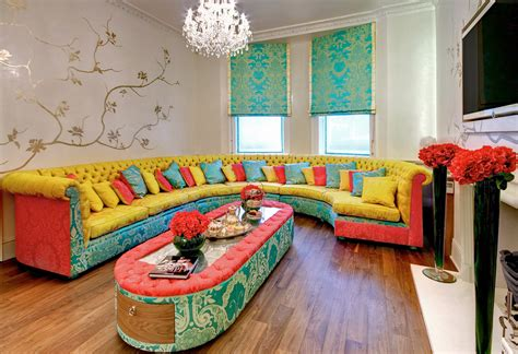 Colorful Chairs For Living Room Colorful Living Room Furniture Sofa Cushions Eccentric Living Room Living Room Glubdubs