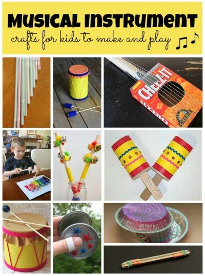 instrument crafts for musical instrument crafts family crafts