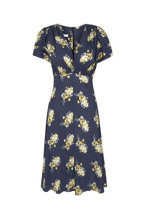 vintage print tea dress designer dresses
