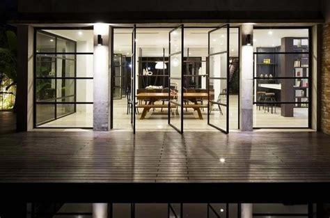 agréable Sejour Et Cuisine Ouverte #6: baie-vitree-ouverte-maison-citadine-moderne.jpg