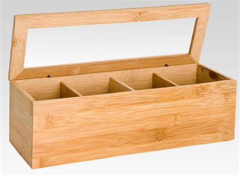 Icd2 Bamboo 3 In 1 Storage Box Set 1 Set 3 Bamboo Bra Multi wooden bamboo tea box 4 sections compartments container bag caddy chest storage ebay