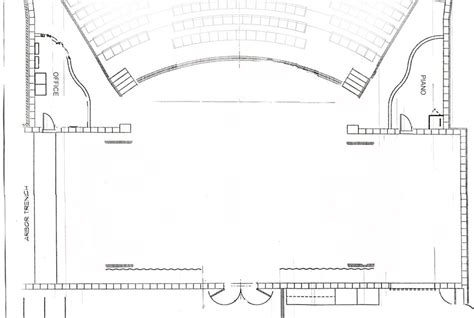 Stage Plan Template performing arts center seating chart