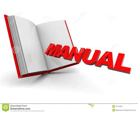 manual for books manual book royalty free stock photography image 13716287