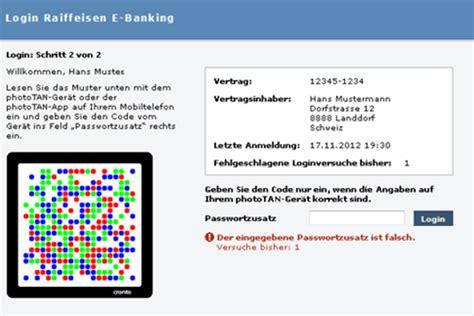 sofort bank login raiffeisen lanciert e banking login per phototan