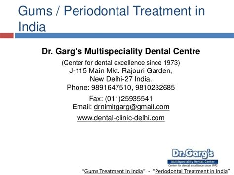 Treatment In India affordable gums periodontal treatment in india