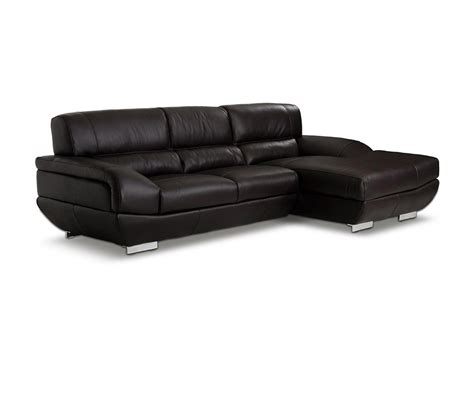 Espresso Sectional Sofa Dreamfurniture Alfred Modern Espresso Leather Sectional Sofa