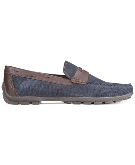 geox mens loafers lyst geox uomo winter monet 2 fit loafers in blue for