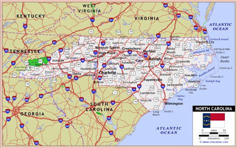 printable road map of north carolina detailed road map of nc pictures to pin on pinterest