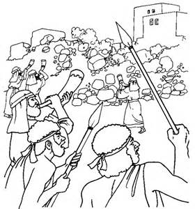 coloring pages for joshua and the battle of jericho joshua and jericho coloring sheet bible education it s